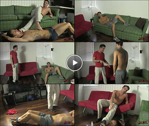 gay foot slave video video